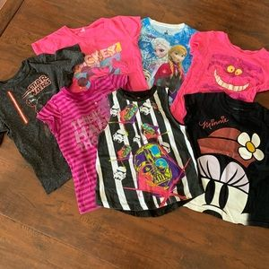 Disney Star Wars Minnie Frozen Shirt Bundle Lot